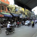 Small shops in Hanoi, Vietnam
