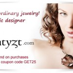 Get $25 oif any purchase of $100 or more on Amatyzt.com with coupon code GET25